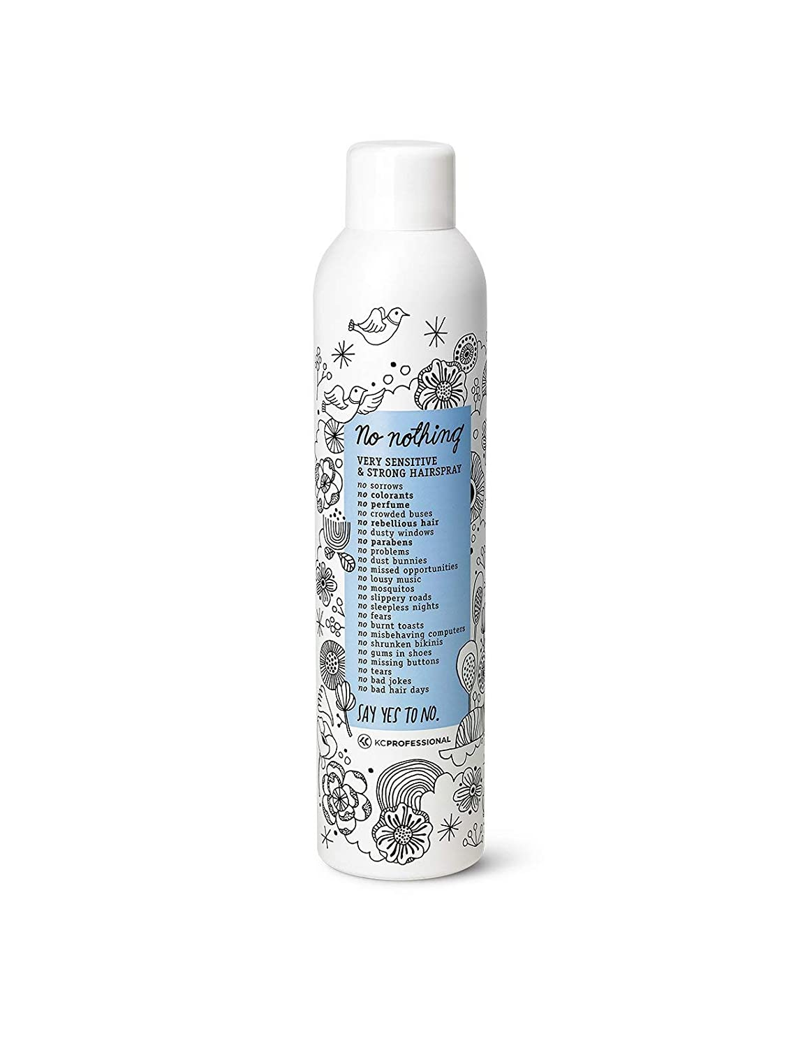 No Nothing, Very Sensitive Strong Hairspray 9oz