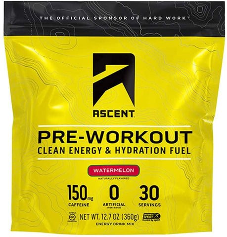 Ascent, Pre Workout Watermelon (Sweet), 12.7oz