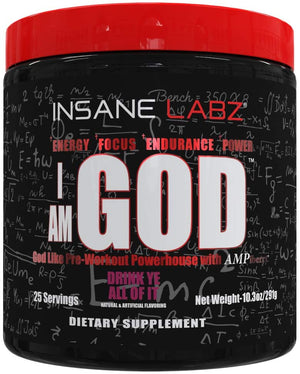 Insane Labz, I am God Pre Workout 10.3oz