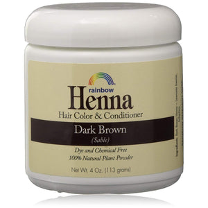 Rainbow  Research, Henna Persian Dark Brown Hair Color 4oz 2pk
