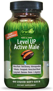 Irwin Naturals, Level UP Active Male 60ct