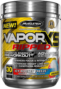 Muscle Tech, Vapor X5 Ripped Icy Rocket Freeze 7.27oz