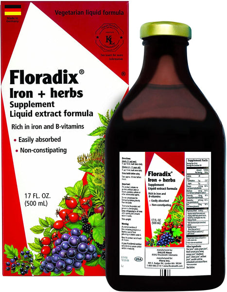 Floradix, Liquid Iron Supplement 17oz