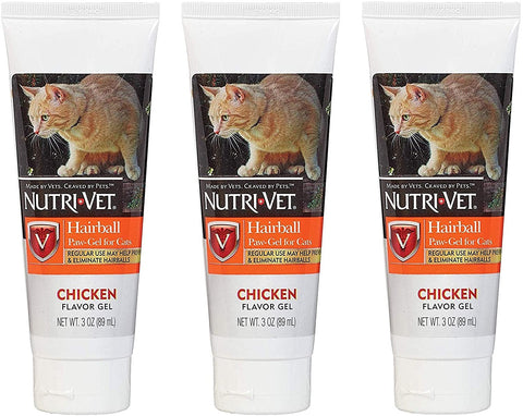 Nutri-Vet, Hairball Paw-Gel 3oz 3pk