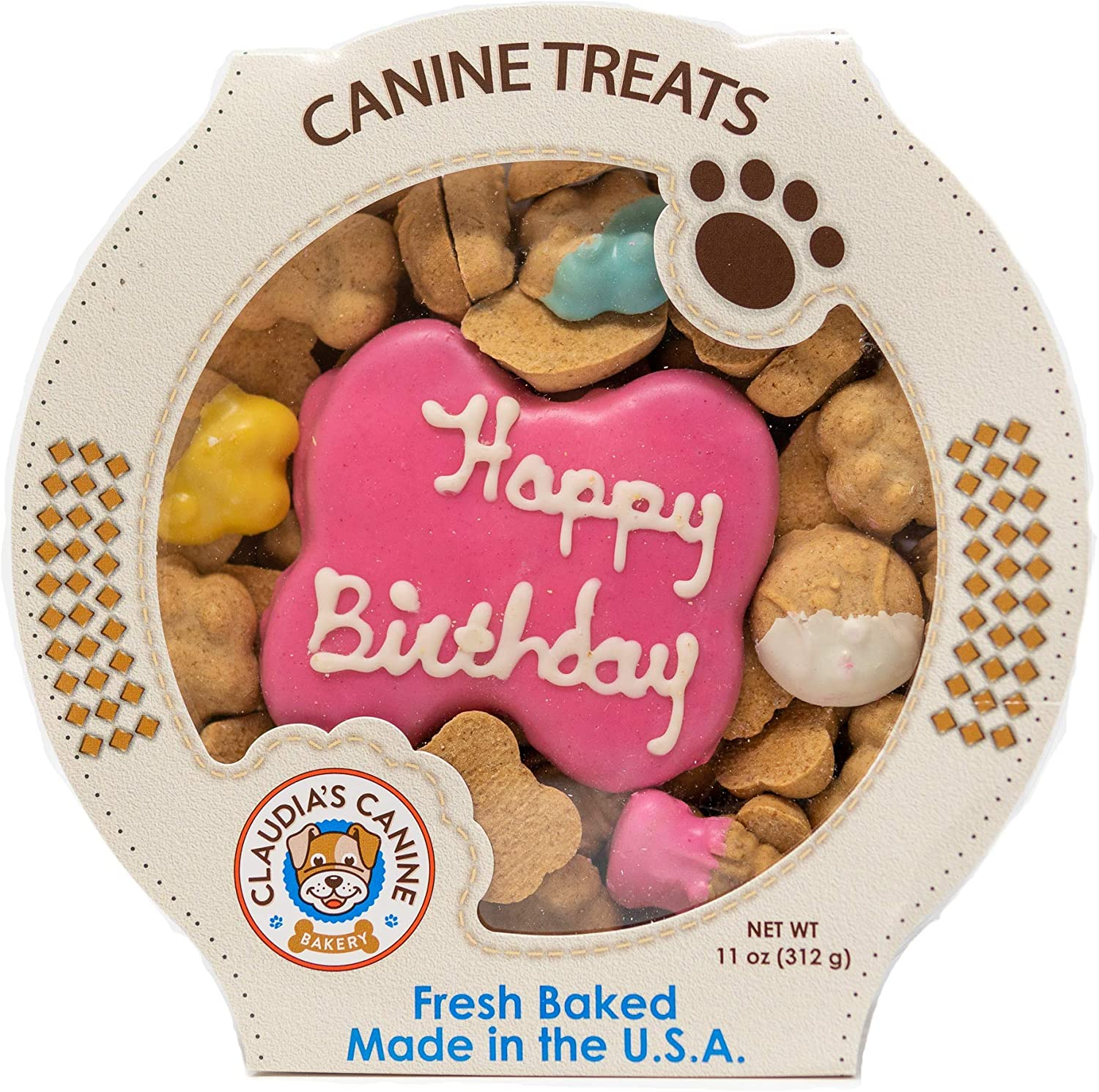 Claudia's Canine, Pink PB Dog Cookies 11oz