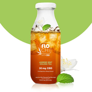 Flo Chi, CBD Iced Tea Jasmine Mint Oolong Tea 10.5oz