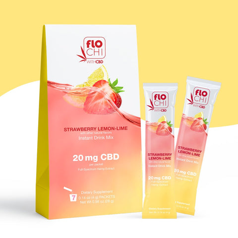 Flo Chill, CBD Powdered Stick Packs Strawberry Lemon-Lime .14oz 4pk