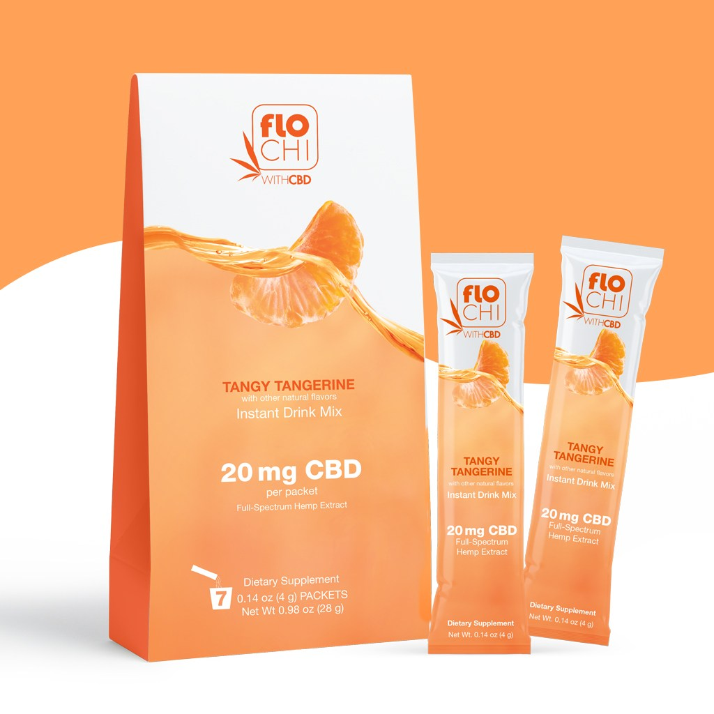 Flo Chill, CBD Powdered Stick Packs Tangy Tangerine .14oz 7pk