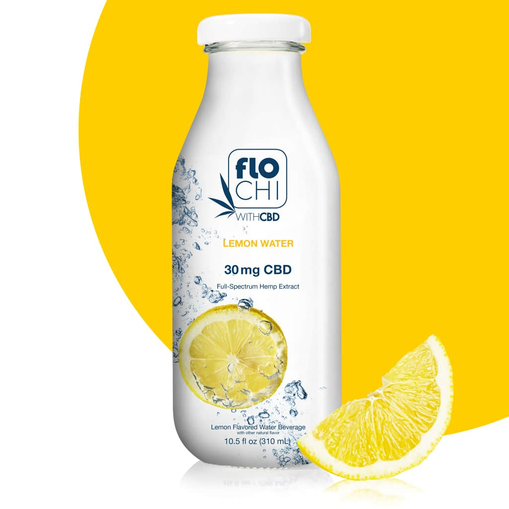 Flo Chi, CBD Water Lemon 10.5oz