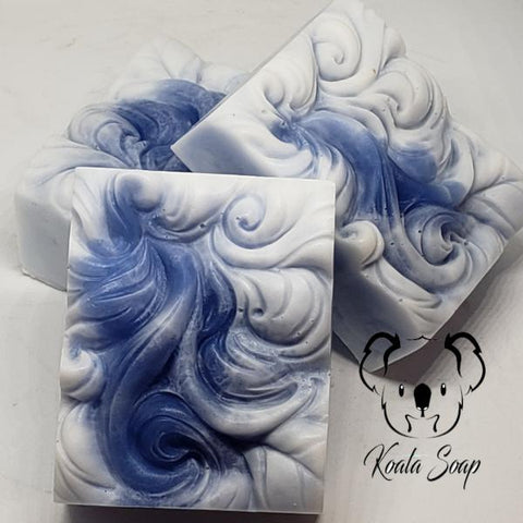 Blue Ice Wave Handmade Soap MP Glycerin Artisan Home Made Artisan Soap