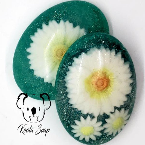 Daisy  Handmade Shea Butter Soap Artisan Home Made Soap