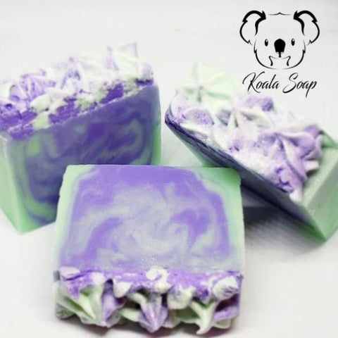 Purple Love Handmade Soap MP Glycerin Artisan Home Made Artisan Soap