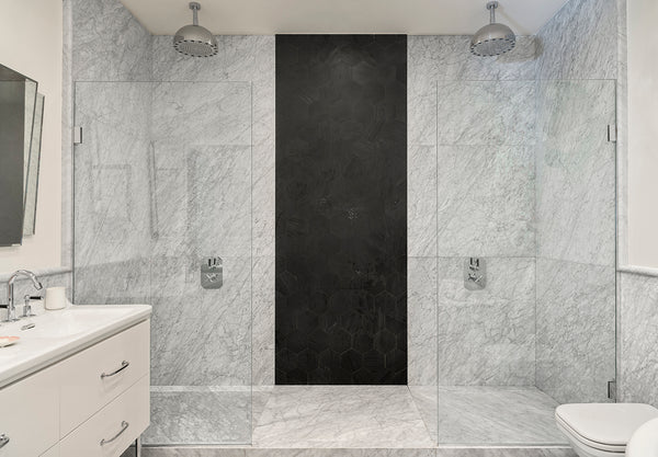 bianco carrara c marble wall cladding bathroom luxury design