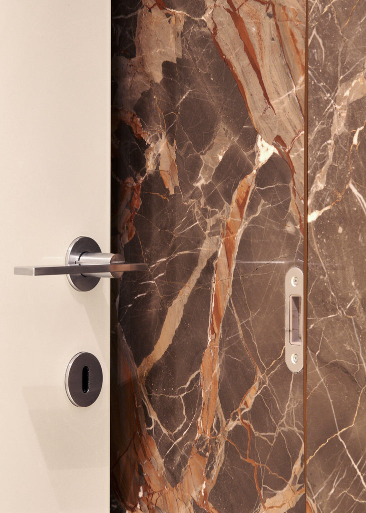 ombra di caravaggio marble wall cladding white door