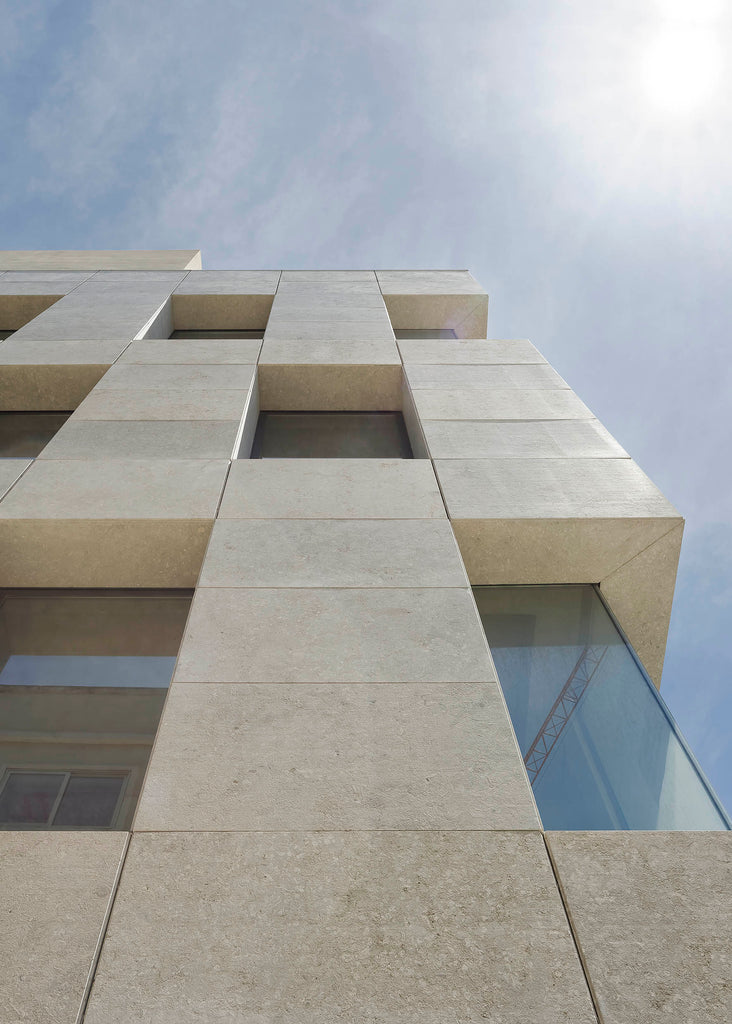 natural stone facade cladding building malta