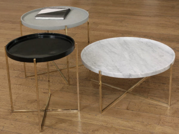 coffee tables different materials solid brass