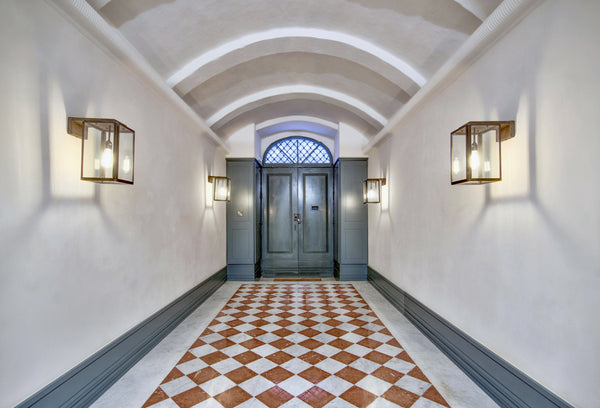 Rosso Alicante Marble Tiles Floor Bianco Carrara Entrance Malta