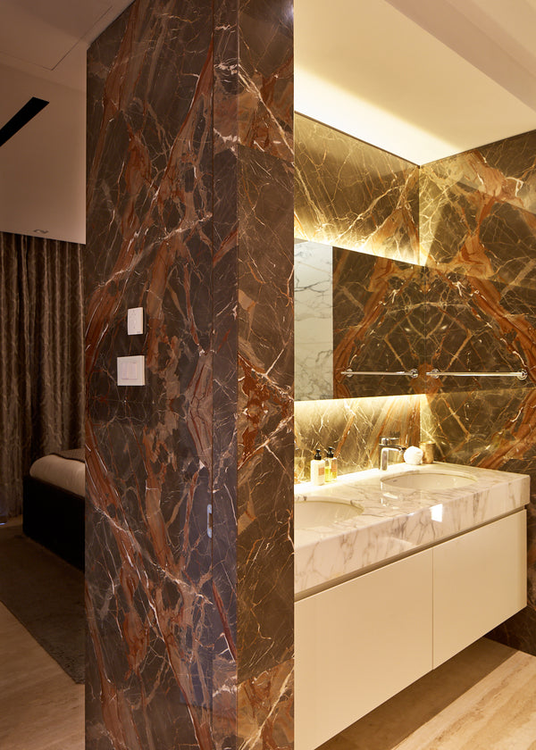 Ombra di Caravaggio wall cladding luxury bathroom marble work malta