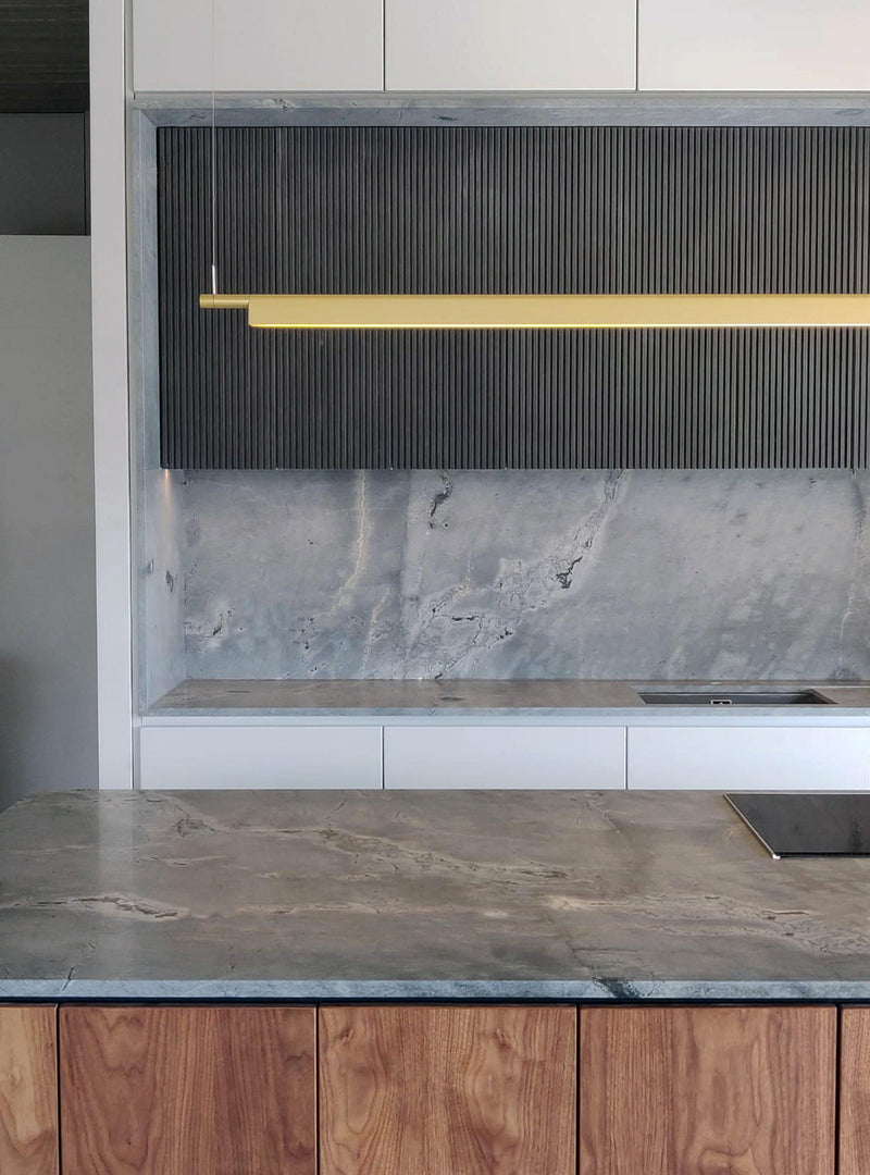 Quartzite Atlantic Grey kitchen backsplash countertop resistant natural stone Malta