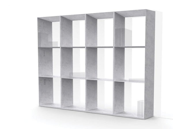 book case bianco carrara marble library