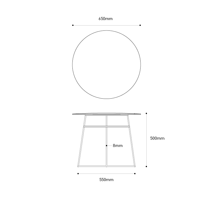 plan sizes coffee table