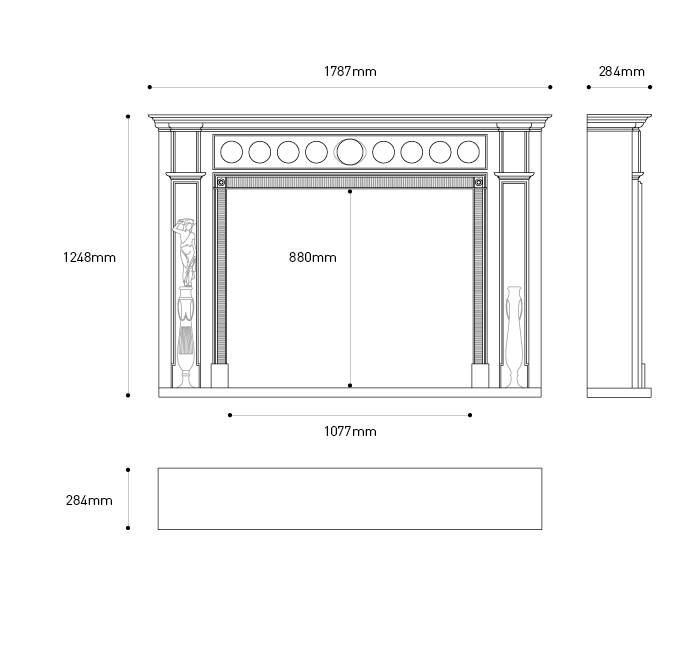 measure mantel