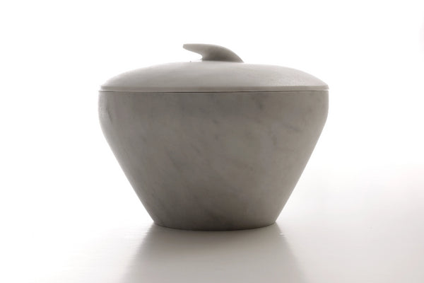 front view marble lid and bowl
