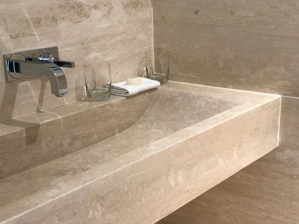 travertino romano vanity top natural stone malta travertine bathroom