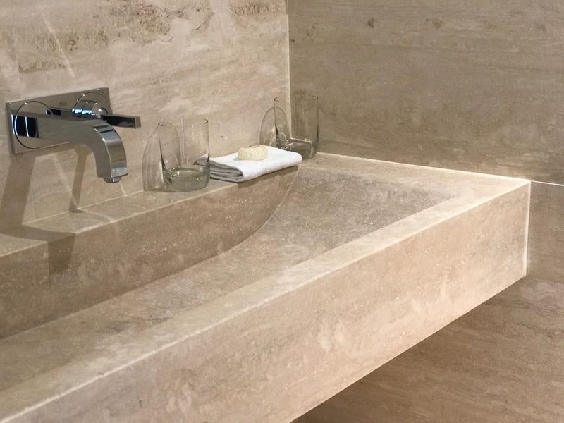 travertine tiles malta travertino romano vanity top natural stone bathroom