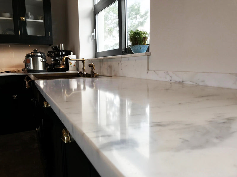 statuario super kitchen countertop polished