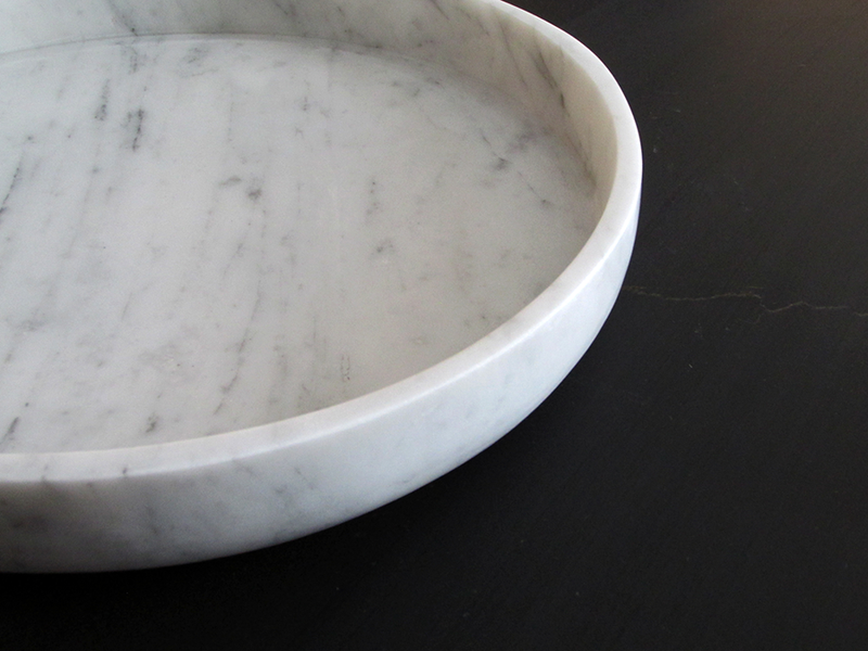 centre plate bianco carrara marble object Ombra natural stone workshop Malta