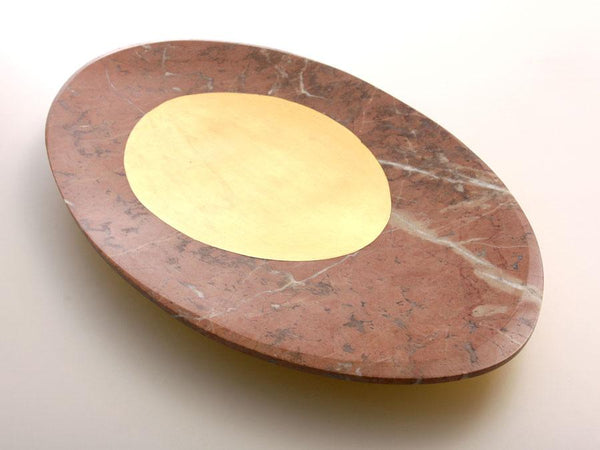 solid rosso center plate