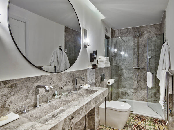 grey tundra marble wall cladding vanity top bathroom natural stone malta marble work
