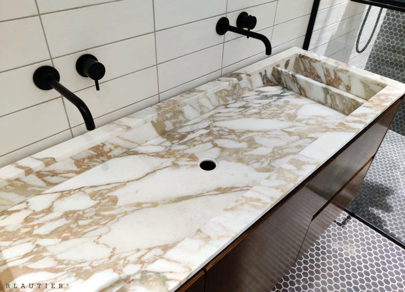 arabescato oro bathroom vanity counter sink stylish basin Malta marble work