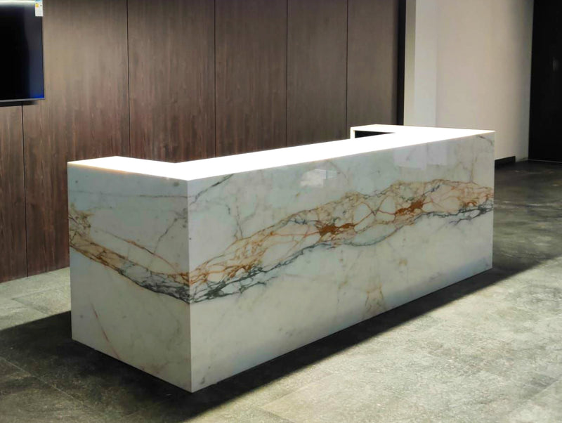 calacatta oro gold counter marble natural stone malta