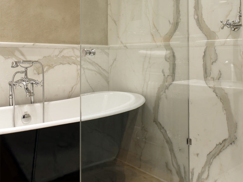 Calacatta Marble Bathroom Wall Cladding Interior Design Inspiration