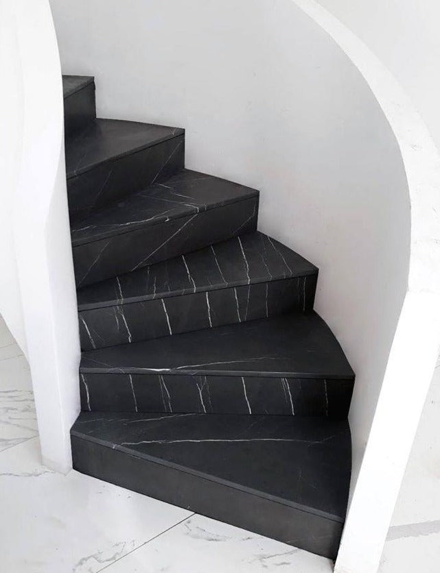 grey stone staircase malta natural stone