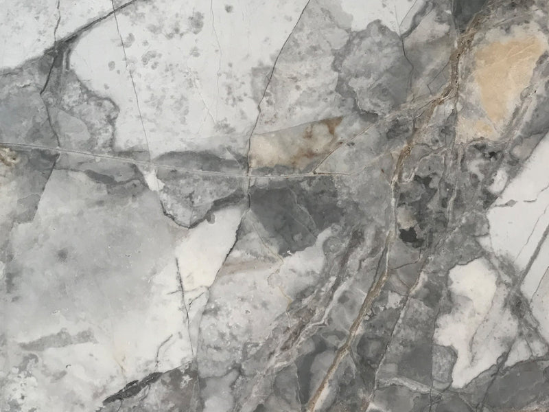 invisible grey marble slab close up