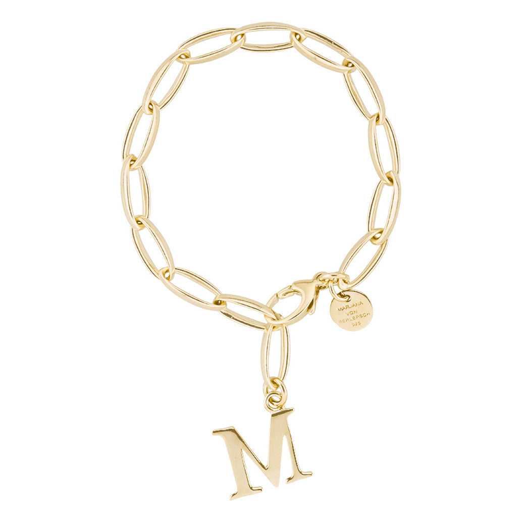 CHARM ARMBAND BUCHSTABE (A-Z) gelbgold