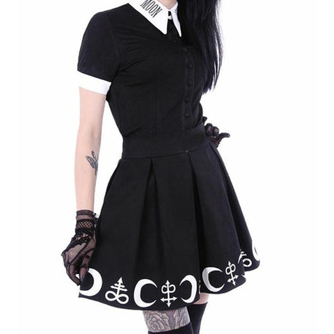Jupe Black Gothic Moon