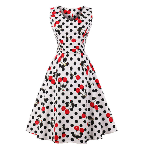 Summer Dress 50's Vintage Polka Dot - Camden Street