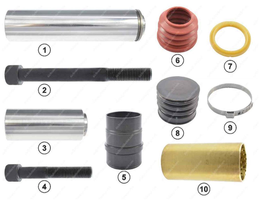 GK81001 Guide pin and seal kit SB5, SB6, SB7 Knorr-Bremse Caliper II328090062, II339680062, II369100062, 1390427, 2121643, 93162048, 1142142, 1198153, 119815