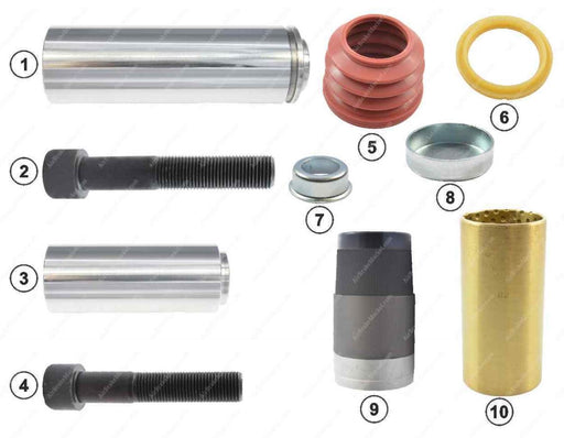 GK81007 Guide pin and seal kit SN6, SN7, SL7SM7 Knorr-Bremse Caliper K000472, 1723416, 42541412, 0004203482, 81508226019, 81508226034, 1527631, 3434381200