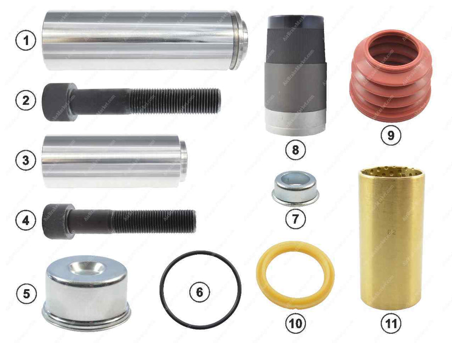 GK81045 Guide pin and seal kit SB6, SB7 Knorr-Bremse Caliper K000375, 81508226023