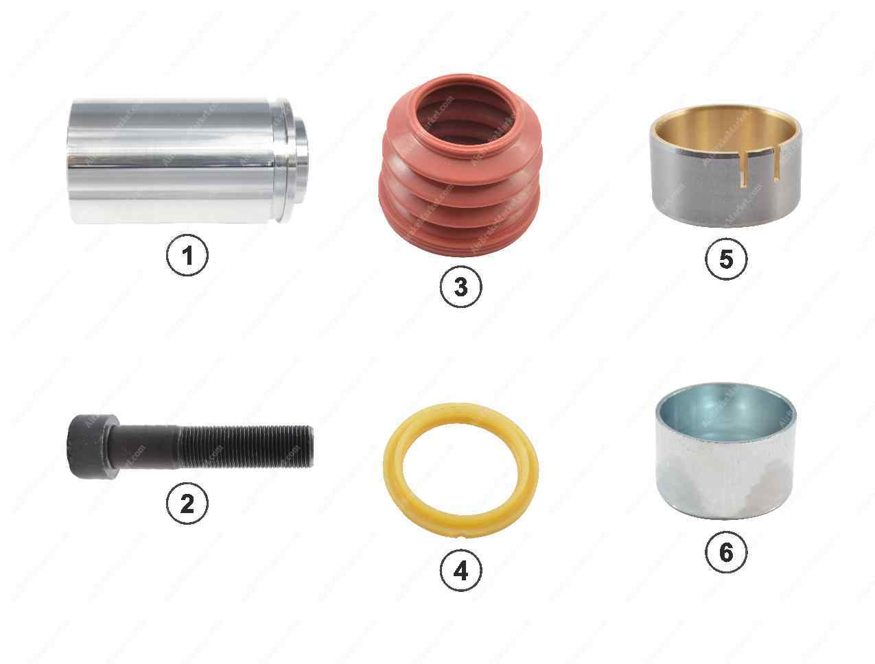 GK81076 Guide pin and seal kit SK7 Knorr-Bremse Caliper