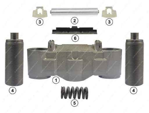 GK81504 Bridge and calibration bolt kit SN6, SN7 Knorr-Bremse Caliper CKSK.17.1