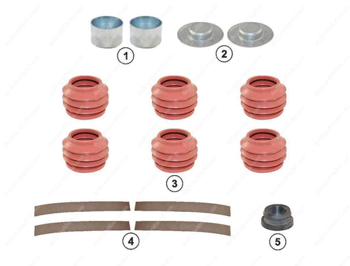 GK82202 Guide pin and seal kit MODUL X GEN 1, MODUL X GEN 2 Haldex Caliper 91013, CHSK.5.1