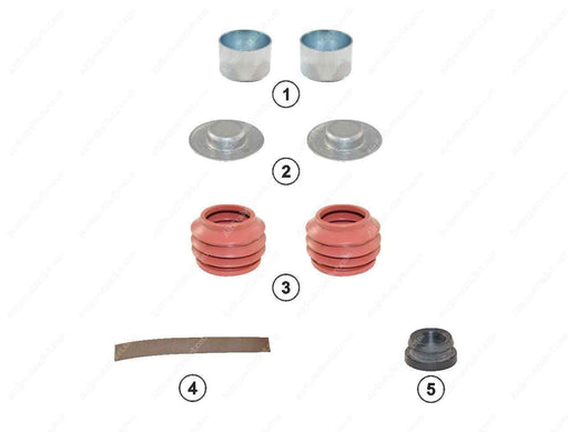GK82203 Guide pin and seal kit MODUL X GEN 1, MODUL X GEN 2 Haldex Caliper 91014, CHSK.5.2