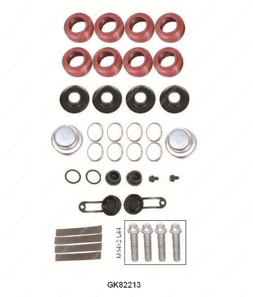 GK82213 Guide pin and seal kit MARK II, MARK III Haldex Caliper 87680, CHSK.1.1