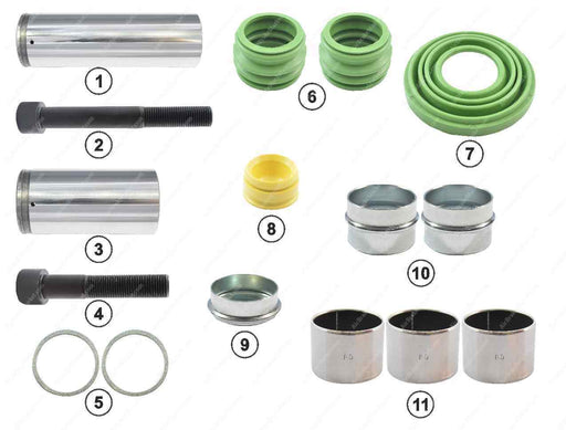 GK83002 Guide pin and seal kit PAN 19-1, PAN 22-1 Wabco Caliper 12999776, 1628065, 85108166, 5001866626, 34344382800, , CWSK.6